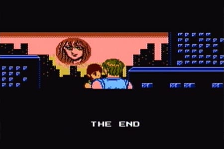 In this scene astyanax is returned to the previous time on the same bridge as in the beginning.  He is hugging Cutie's and sees the princess's face in the sunset.