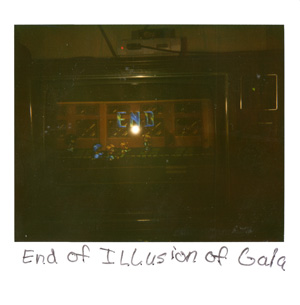 polaroid picture of the final screen shot of the illusion of gaia ending